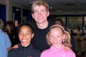Can you guess who these two are posing with Jeff Buttle?